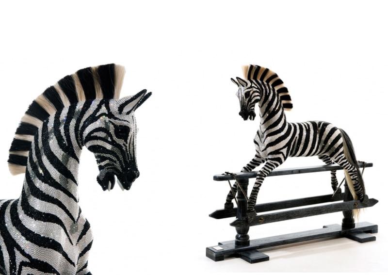 Dazzling Rocking Zebra