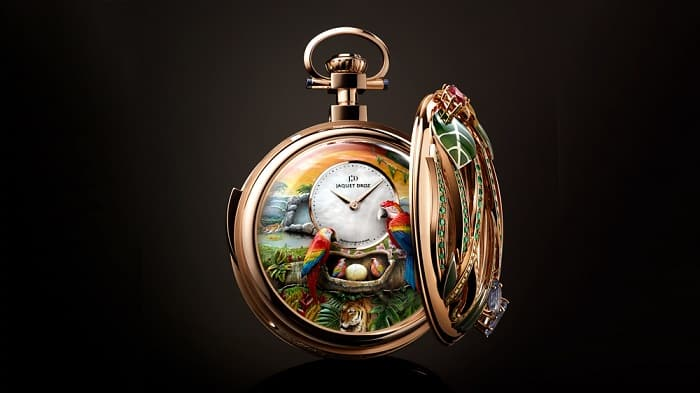 Parrot Pocket Watch Repeater